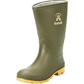 Kamik Stomp Rubber Boots Kids Olive